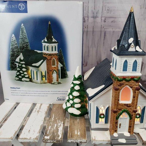 Department 56 Other - Dept 56 54640 Wedding Chapel Church Snow Village X
